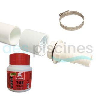 Kit d'adaptation pour tuyau de filtrage